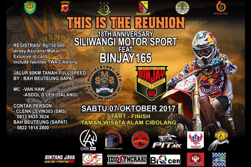 Reunion SMS (Siliwangi Motor Sport)18th Aniversary feat Binjay Adventure