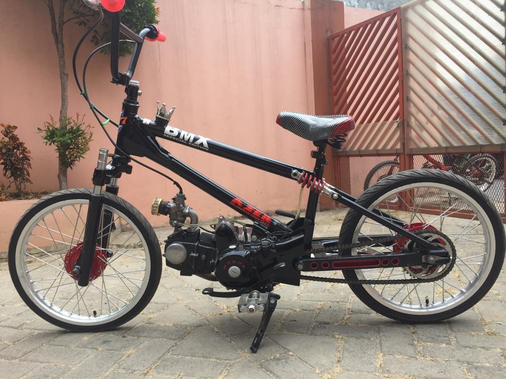 SEPEDA..MOTOR.. ALA BMX BERMESIN- MODIFIKASI BUILDER AZER MOTOR FOR SALE
