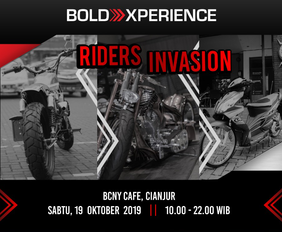 BROTHERS IN ARMS – RIDERS INVASION – SABTU 19 OKTOBER 2019