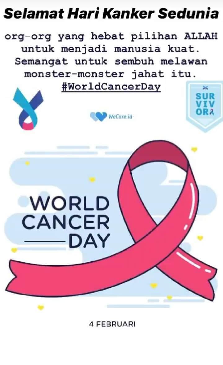 Setiap 4 Februari diperingati sebagai Hari Kanker Sedunia.