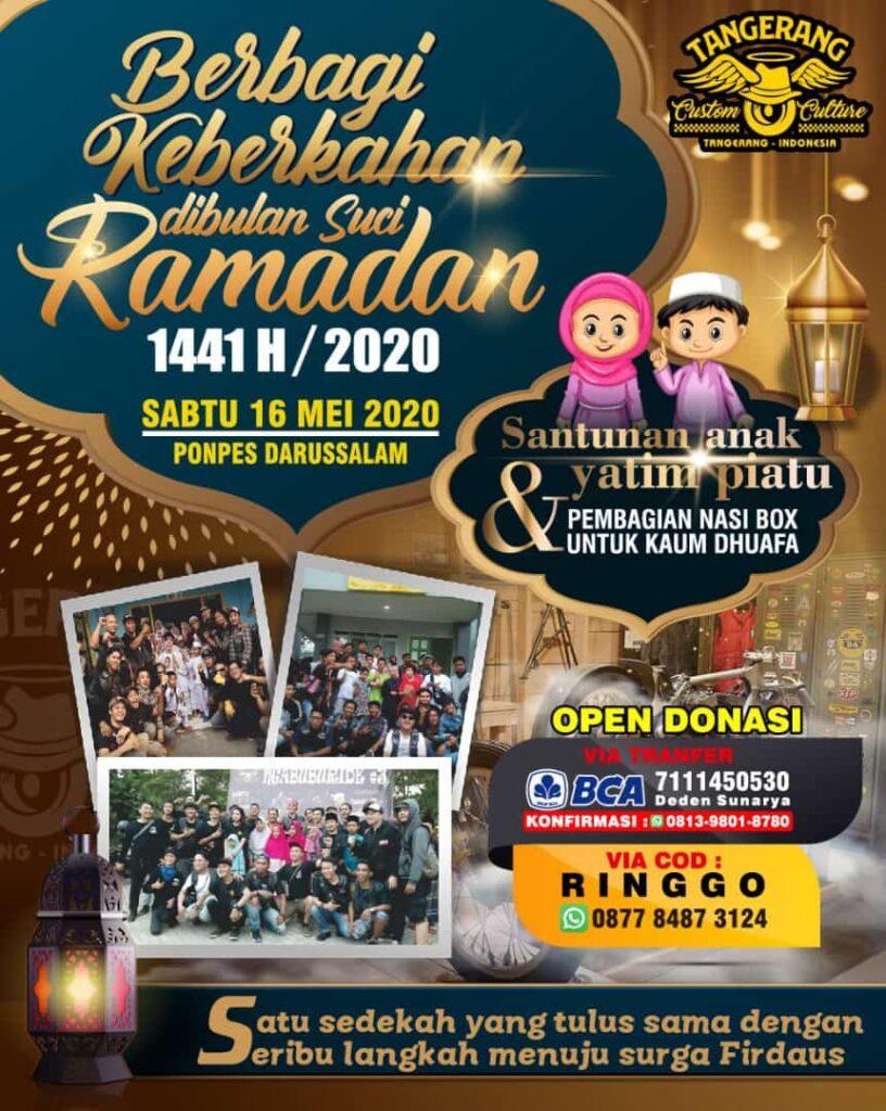Tangerang Custom Culture – Berbagi Keberkahan di Bulan Suci Ramadan 1441 H / 2020