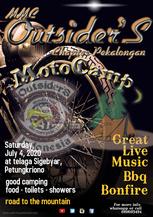 MOTOCAMP MMC OUTSIDERS INDONESIA PEKALONGAN CHAPTER 2020