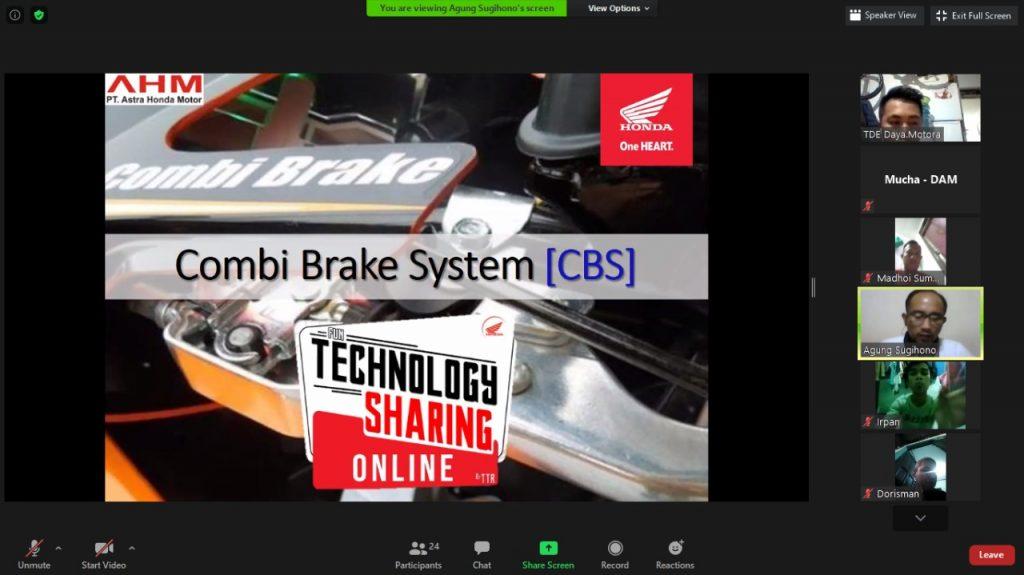DAM Ajak Silaturahmi Komunitas Motor Honda Secara Online