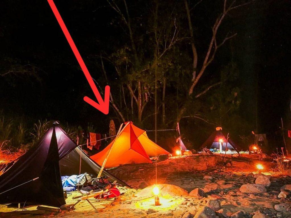 Penampakan Noni di Camp Riam Pungson Muara Komam Kalimantan Timur