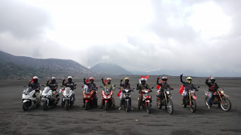 Napak Tilas Honda Bikers Day MPM Honda Jatim