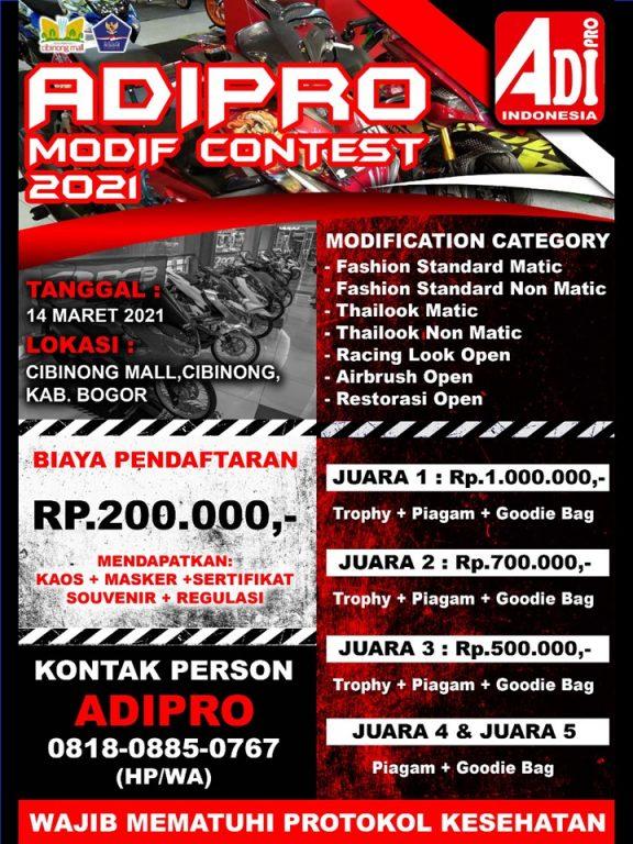 Adipro Modif Contest 14 Mar 2021