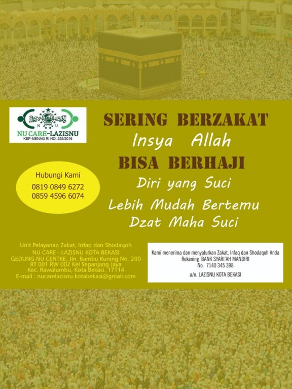 LazisNU Bekasi Zakat Poster